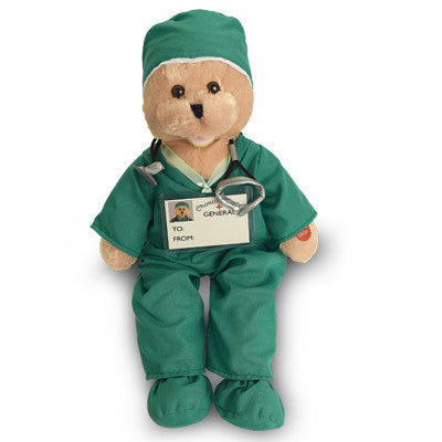 green scrubs bear g1036