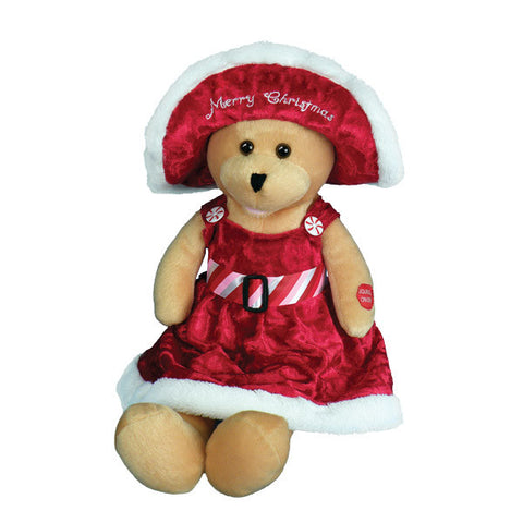 singing connie talbot christmas bear g5506