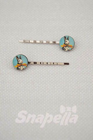 Bunny Rabbit Tiny Bobby Pins