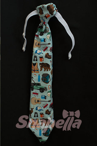 Camping Tie and Bow Tie