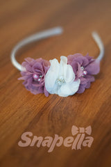 Affixed Headband With Pearl and Diamontes