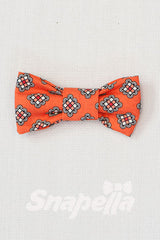 Orange Rubix Tie and Bow Tie