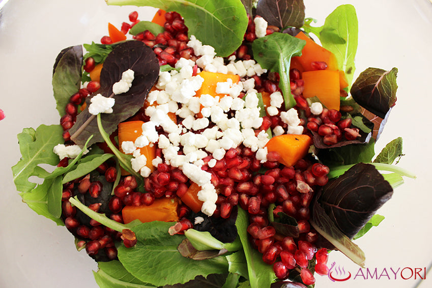 Too Good Not To Share: Persimmon and Pomegranate Salad