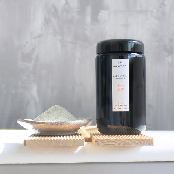 Amayori, Hinoki Bath Salts, Japanese Bath Salts, Luxury Bath Salts, Ambrosial Ofuro Shizumi Luxury Bath Salts, Amayori