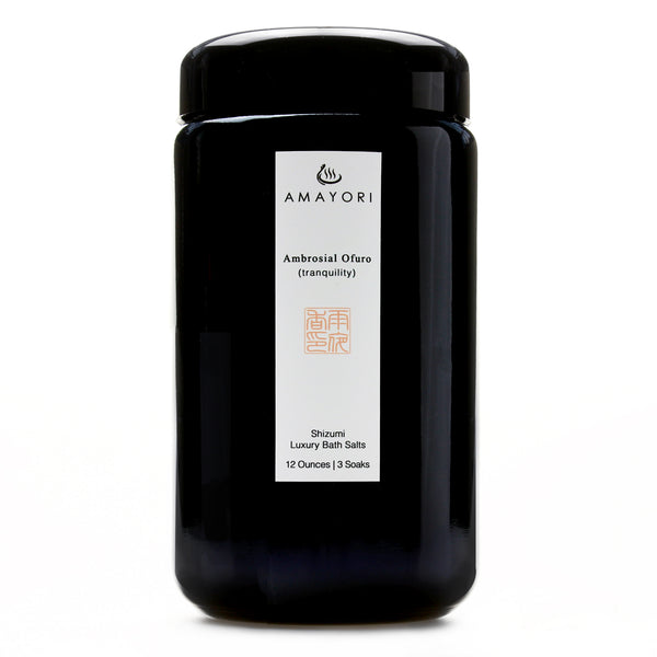 Amayori, Hinoki Bath Salts, Japanese Bath Salts, Japanese Bath Products, Luxury Bath Salts, Ambrosial Ofuro Shizumi Luxury Bath Salts, Amayori