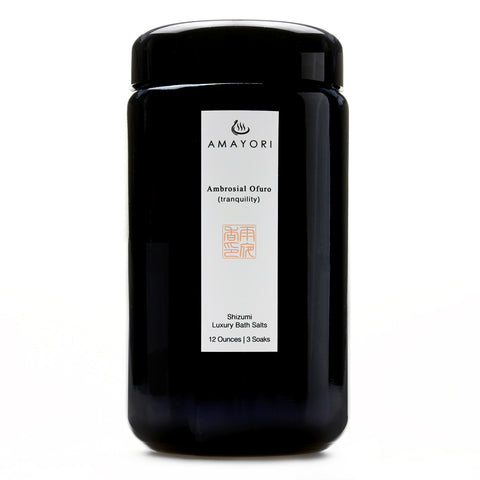 Hinoki Bath Salts, Japanese Bath Salts, Japanese Bath Products, Luxury Bath Salts, Ambrosial Ofuro Shizumi Luxury Bath Salts, Amayori