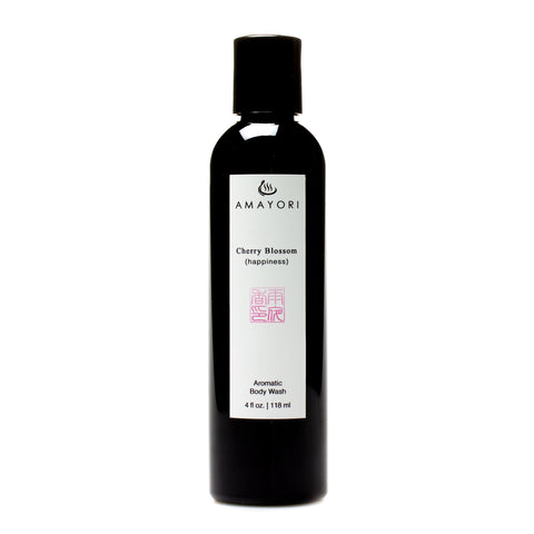 Amayori, Cherry Blossom, Aromatic Body Wash, Japanese Bath Products, Bottle