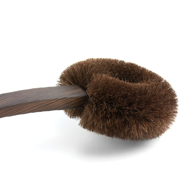 Takada Tawashi Body Brush, Japanese Dry Brush, Japanese Bath Accessories, Amayori, Closeup