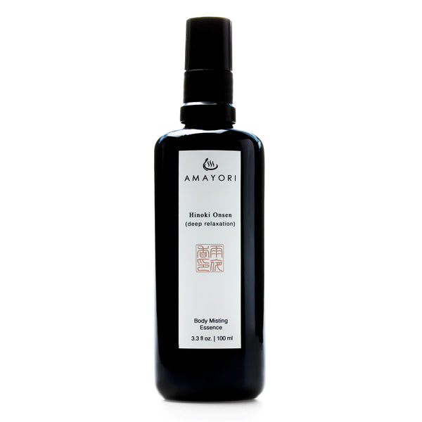 Hinoki Body Mist, Japanese Body Care, Japanese Bath Products, Hinoki Onsen Body Misting Essence, Amayori
