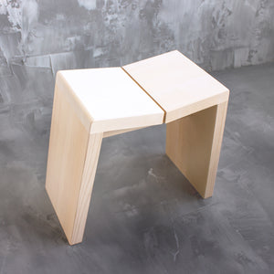 Hinoki Bath Stool, Hinoki Shower Stool, Top View, Amayori