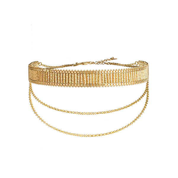 Royal Choker with Chains