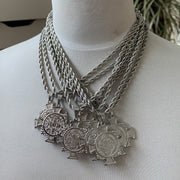 Silver Kimye Necklace