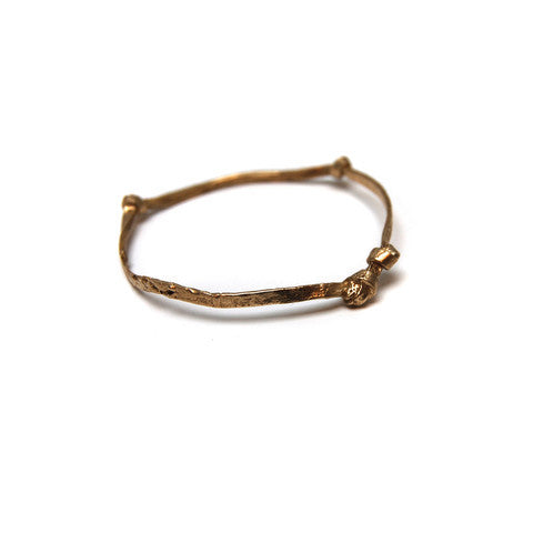 Brass Multi Knot Bangle