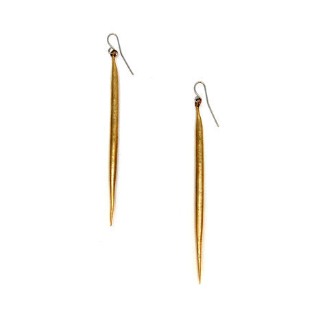 Brass Quill Earrings - Outlette Jewelry