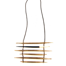 Load image into Gallery viewer, BRASS QUILL / PORCUPINE QUILL LADDER - Outlette Jewelry