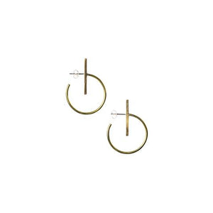 Small Lined Circle Hoops - Outlette Jewelry