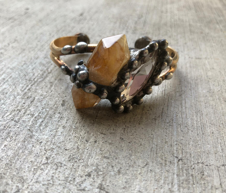 Smoky Quartz Cuff - Outlette Jewelry