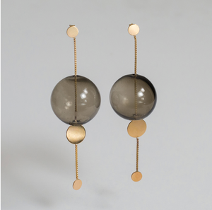 Glassy Orbit Earrings - Outlette Jewelry