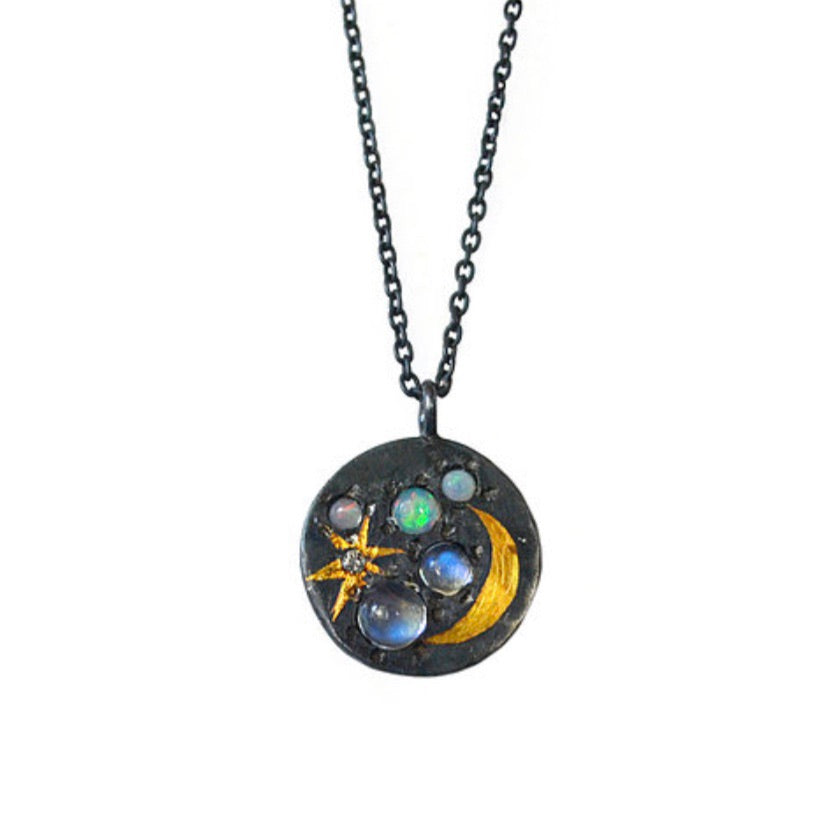 Space Scape Medium Pendant - Outlette Jewelry