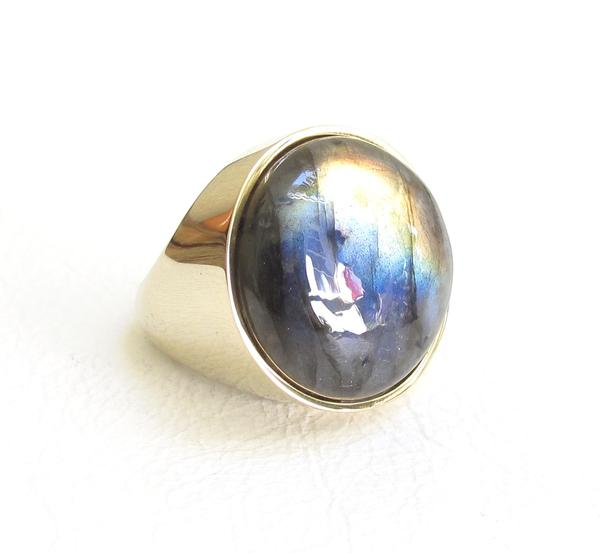 Labradorite Balloon Ring - Outlette Jewelry