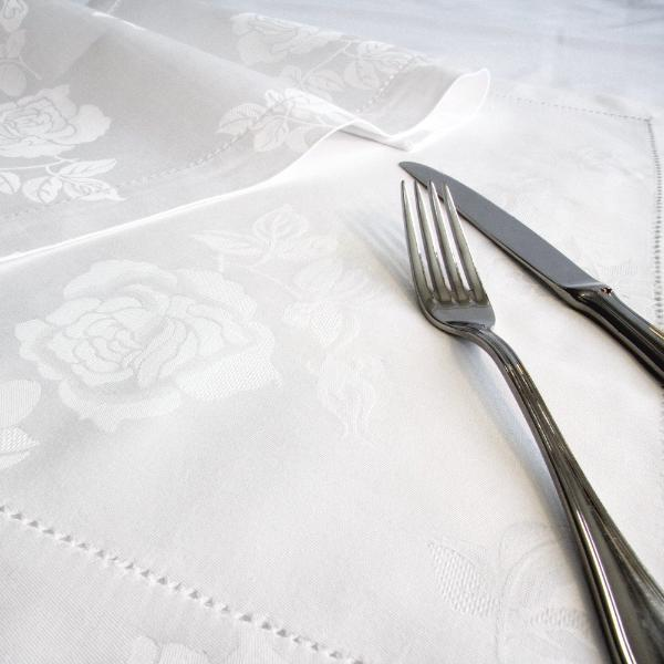 Damask Roses Table Cloth