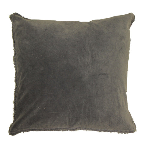Frayed Velvet Cushion