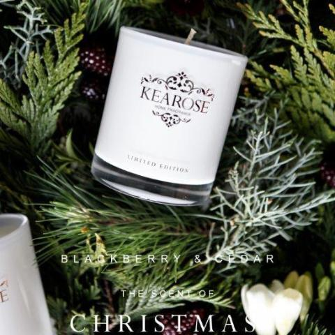 Kea Rose Christmas Candle