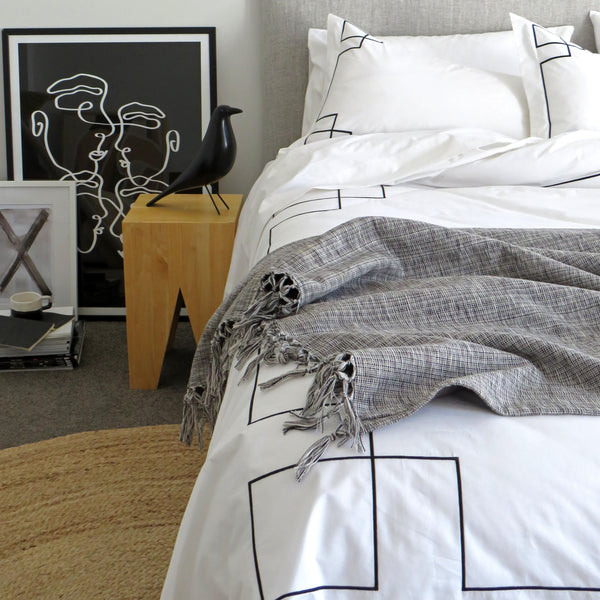 Empire Duvet Set Black