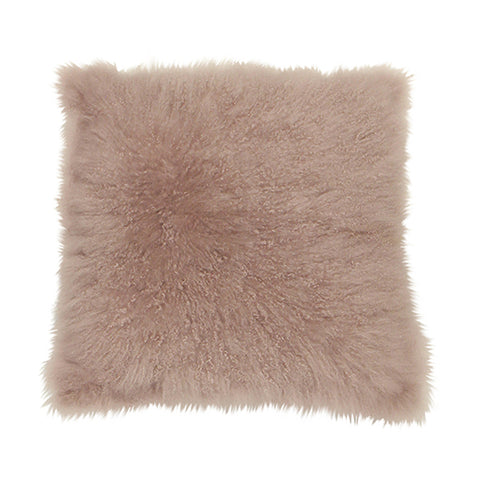 Cashmere Pink Fur Cushion