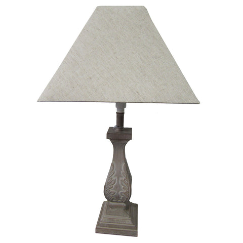 Ornate Grey Antiqued Lamp Base