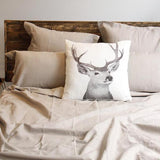 With Stag Cushion