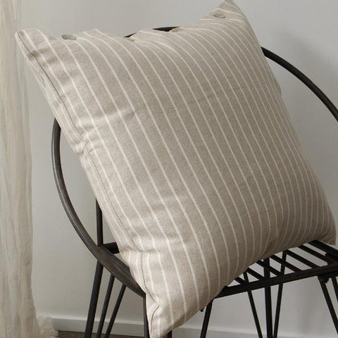 Federation Linen Wide Striped Pillow Cover Set of 2
