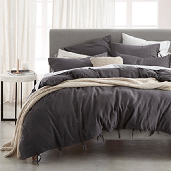 Versai Duvet Set - Charcoal - now $149 for any size!