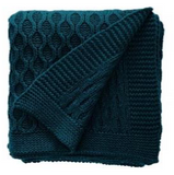 100% Cotton Chunky Knit Throw