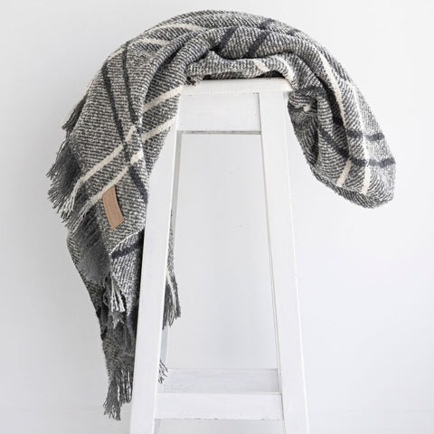 Pure NZ Wool Throw Grey