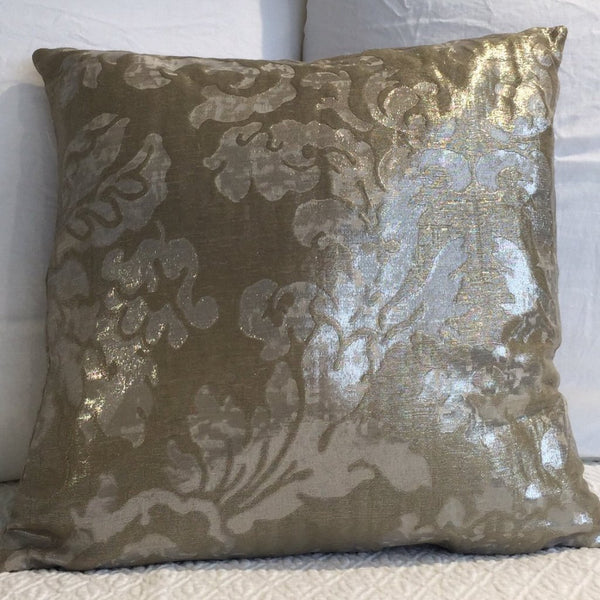 Gold Metallic Brocade Cushion