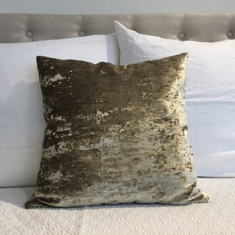 Gold Crushed Velvet Cushion