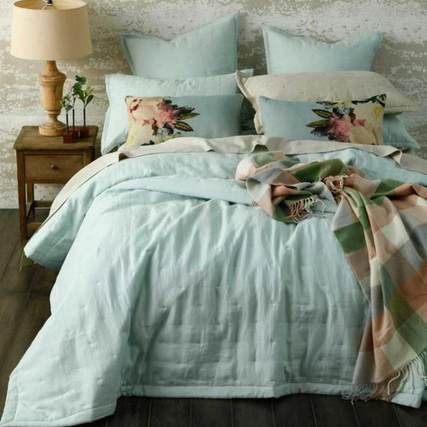 Laundered Linen Bedspread Set