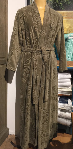 Olive Jacquard Bathrobe