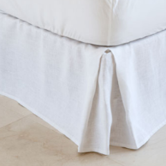 Federation Linen - White Linen Box Valance