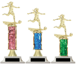 Girls Soccer Edition Column Trophies Make Your Own