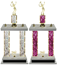 Double Column Tennis Trophies (Female) Free Engraving