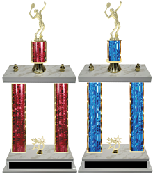 Double Column Tennis Trophies (Male) Free Engraving