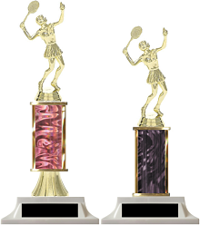 Column Trophies Tennis (Female) with Free Engraving