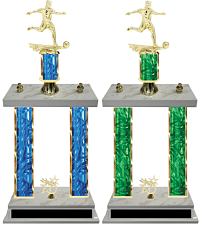 Double Column Trophy Boys Soccer Team Design Your Own