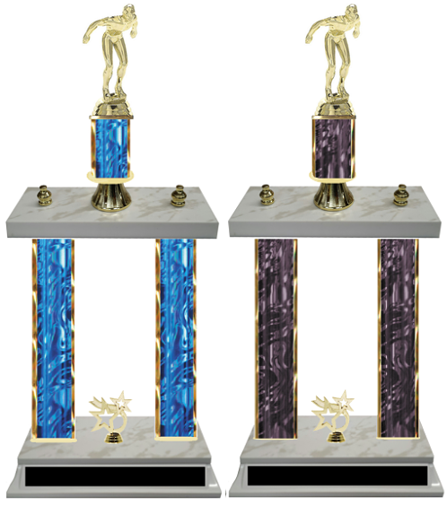 Male Swimmer Double Column Trophy