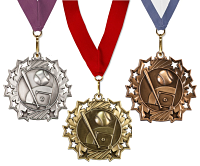 Baseball Medal with Neck Ribbon - Stars Rising