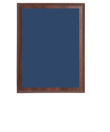 Value Wall Plaques Blue Brass Plates Cherry Finish Board