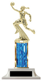 Wow! Blue Girls Basketball Trophy