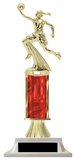 Basketball Column Trophy - Girls Basketball - Choose a Color | Build-a-Trophy